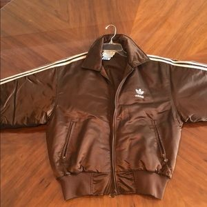 Adidas brown woman's puffer jacket